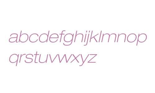 Helvetica Neue LT W0233ThExObl