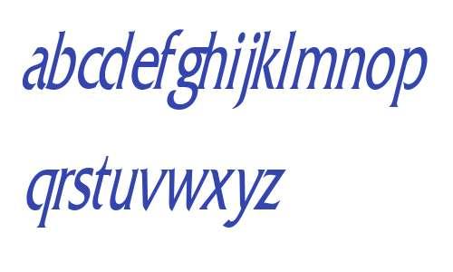 Franco Thin Italic