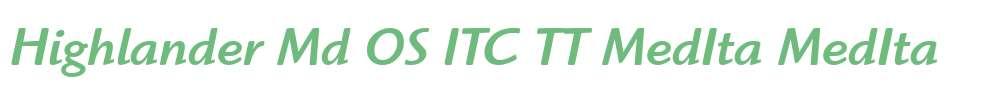 Highlander Md OS ITC TT MedIta
