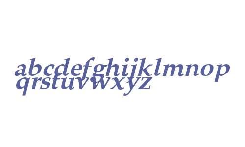 Queens Park Bold Italic
