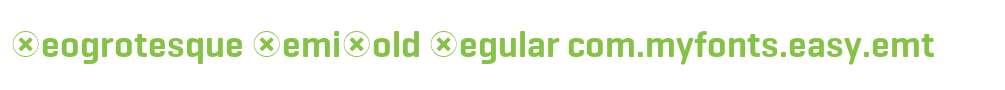 Geogrotesque SemiBold Regular