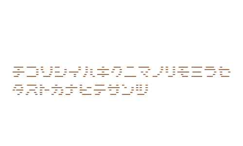 D3 DigiBitMapism Katakana Thin