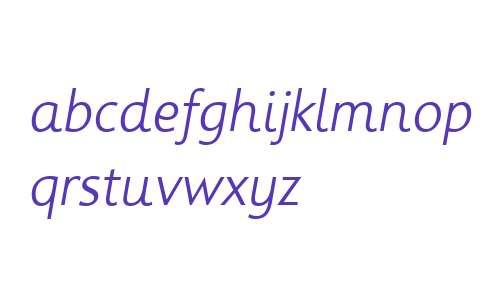 Informa W02 Light Italic