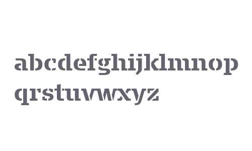Signa Slab Stencil W03 Bold