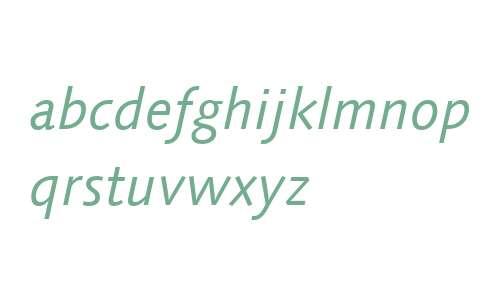 Linotype Syntax W02 Italic