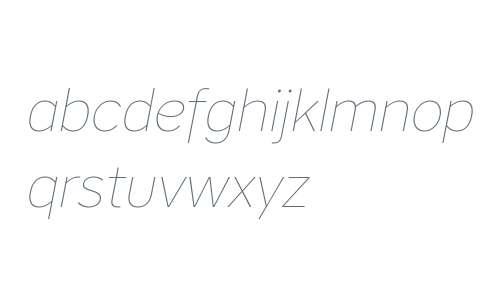 CoreSansA15Thin-Italic