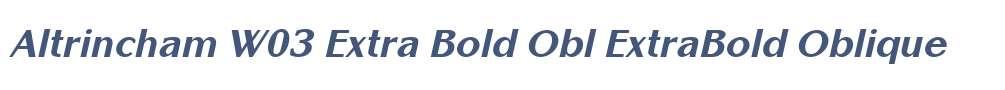 Altrincham W03 Extra Bold Obl
