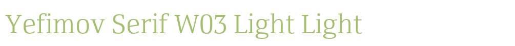 Yefimov Serif W03 Light