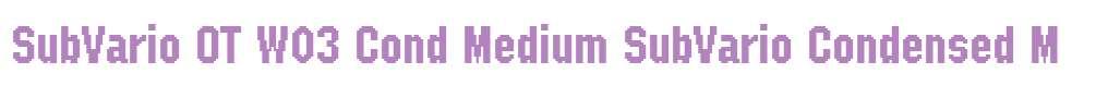 SubVario OT W03 Cond Medium