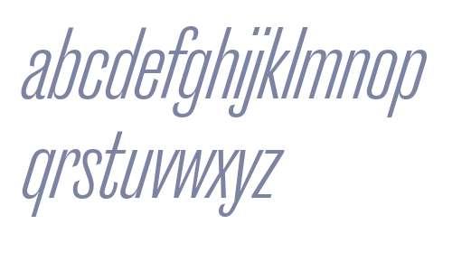 Caslon Doric Cond Regular Italic