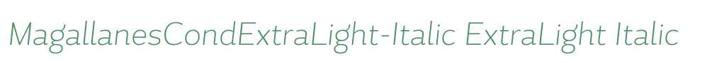 MagallanesCondExtraLight-Italic