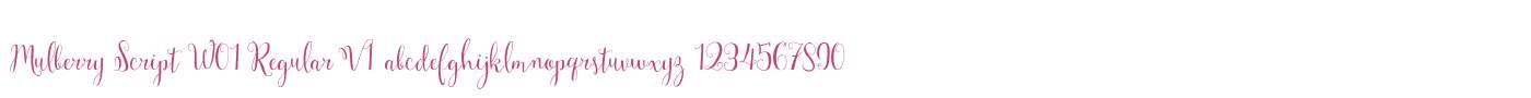 Mulberry Script W01 Regular V1
