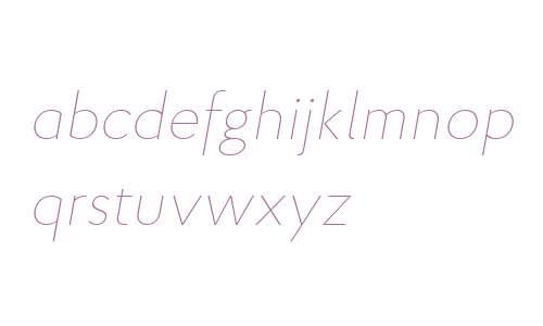 Proba W03 Thin Italic