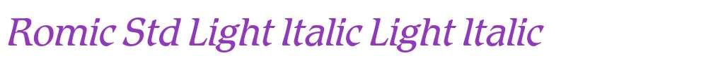 Romic Std Light Italic