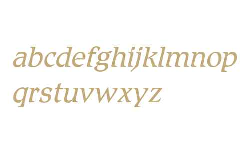 Romic Std Light Italic