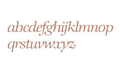 Zapf International* Light Italic