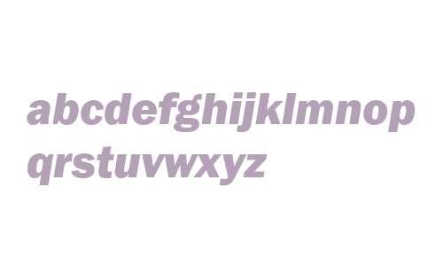 ITC Franklin Gothic Heavy Italic Cyrillic