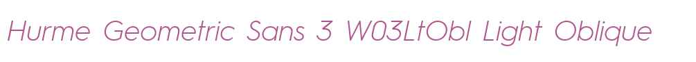 Hurme Geometric Sans 3 W03LtObl