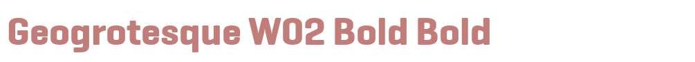 Geogrotesque W02 Bold