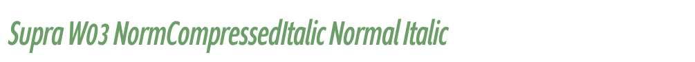 Supra W03 NormCompressedItalic