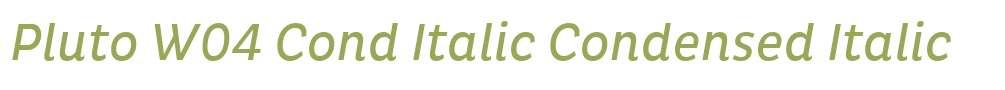 Pluto W04 Cond Italic