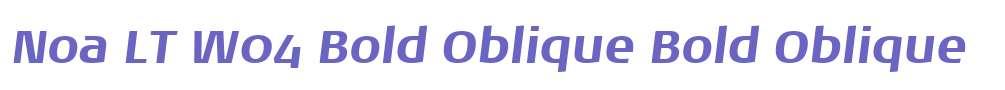 Noa LT W04 Bold Oblique