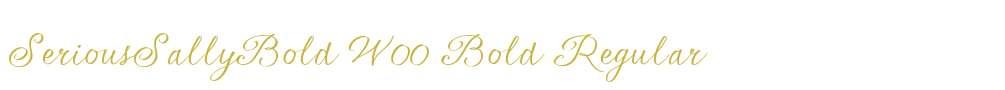 SeriousSallyBold W00 Bold
