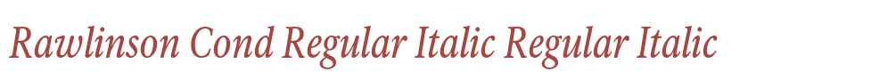 Rawlinson Cond Regular Italic