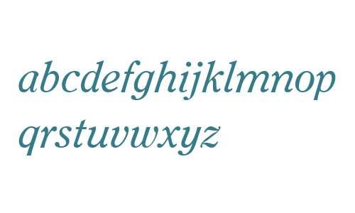 Clearface ITC W04 Italic