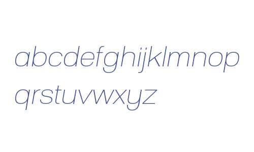 Substance W00 Thin Italic