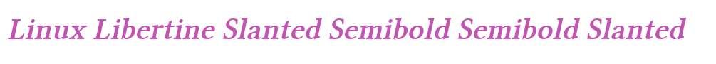 Linux Libertine Slanted Semibold