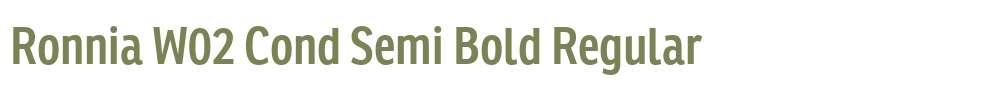 Ronnia W02 Cond Semi Bold
