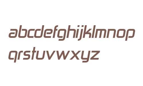 Zekton W00 Bold Italic
