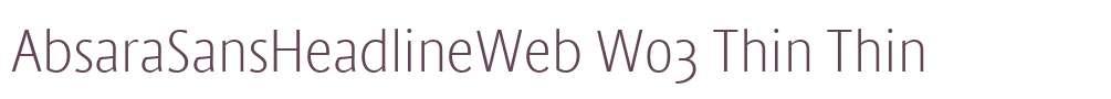 AbsaraSansHeadlineWeb W03 Thin