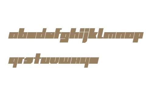 SuperBolD W00 Italic