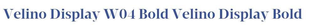 Velino Display W04 Bold