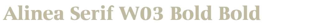 Alinea Serif W03 Bold