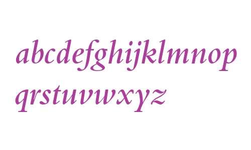 Bembo Semibold Italic Oldstyle Figures