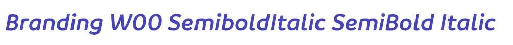 Branding W00 SemiboldItalic