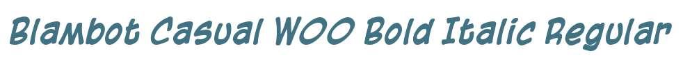 Blambot Casual W00 Bold Italic