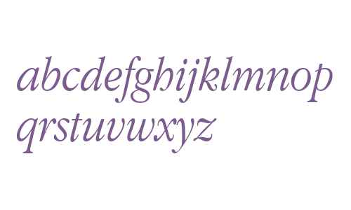 Apple Garamond BT Light Italic