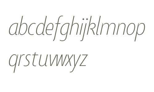 Taffee W01 Thin Italic