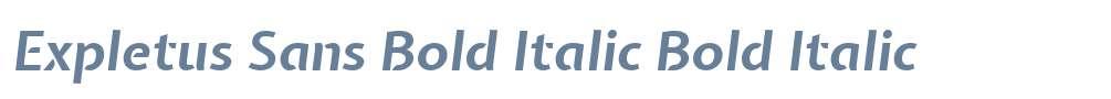 Expletus Sans Bold Italic