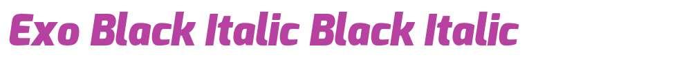 Exo Black Italic