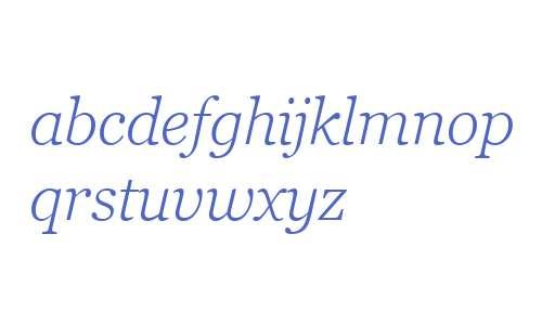 Georgia Pro W01 Light Italic