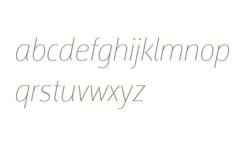Argumentum W01 Thin Italic