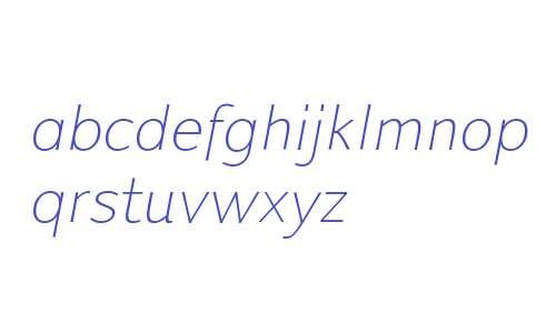 Talis C Thin W00 Thin Italic