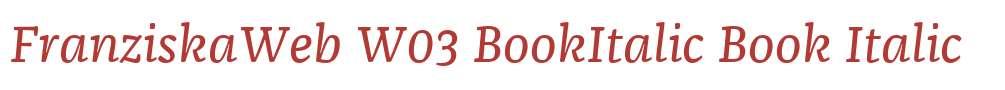 FranziskaWeb W03 BookItalic