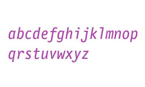 LetterGothicMonoWeb-Italic W03