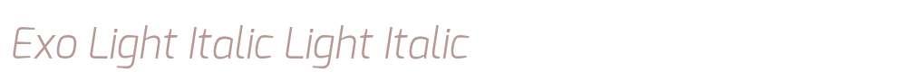 Exo Light Italic